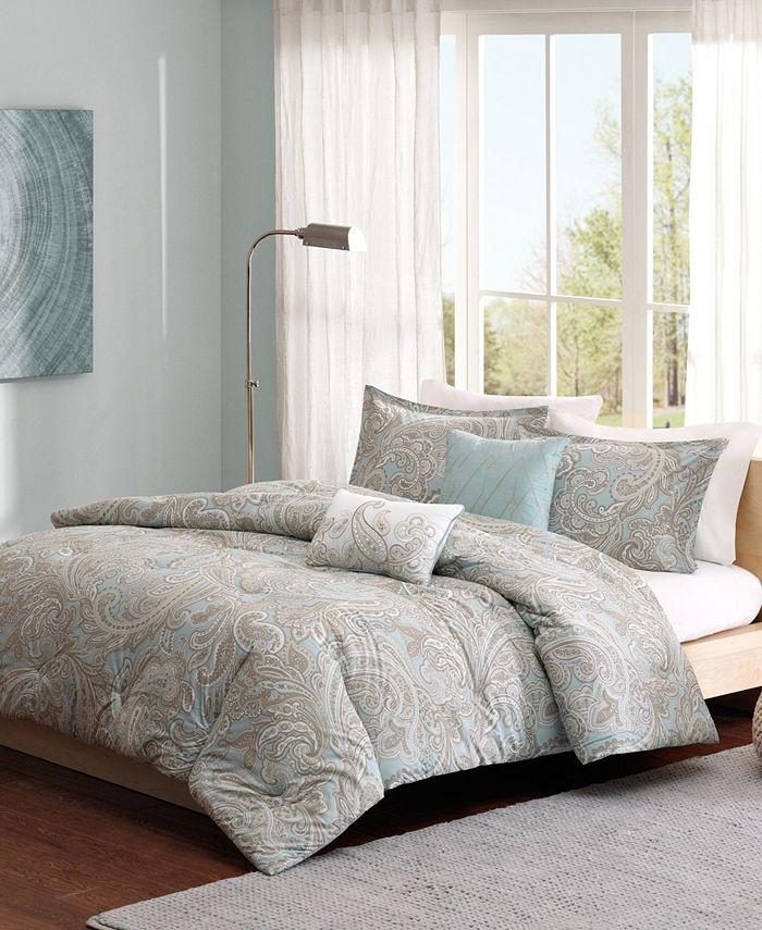 JLA Home - Madison Park Pure Ronan Full/Queen 5-Pc Cotton Comforter Set