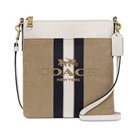Deals on COACH Horse And Carriage Jacquard Kitt Crossbody