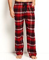 Perry Ellis Sleepwear, Exploded Plaid Flannel Pajama Pants
