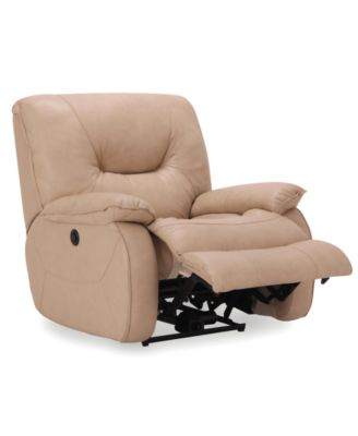 Dante Leather Glider Recliner Furniture Macy S