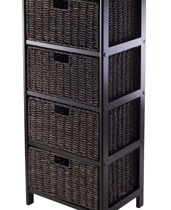 Winsome Omaha Storage Rack with 4 Foldable Baskets