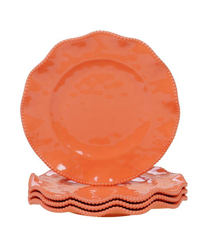 Certified International - Perlette Coral 4-Pc. Dinner Plate Set