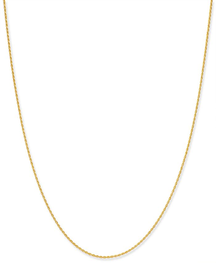 "Giani Bernini - Thin Rope Chain 20"" Necklace in 18k Gold-Plate Over Sterling Silver"
