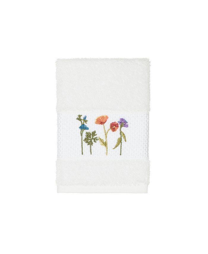 Linum Home - Turkish Cotton Serenity Embellished Washcloth