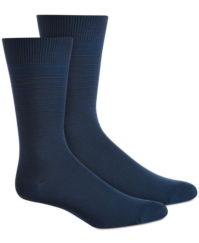 Perry Ellis Portfolio - Men's Textured Stripes Socks