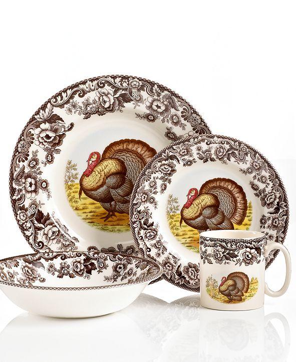 Spode Dinnerware, Woodland Turkey 4 Piece Place Setting