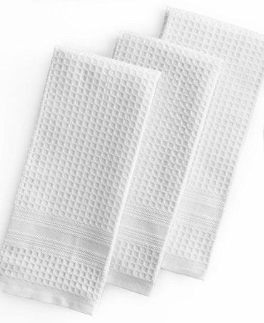 Martha Stewart Collection Kitchen Towels Set Of 3 Waffle Weave White Kitchen Gadgets