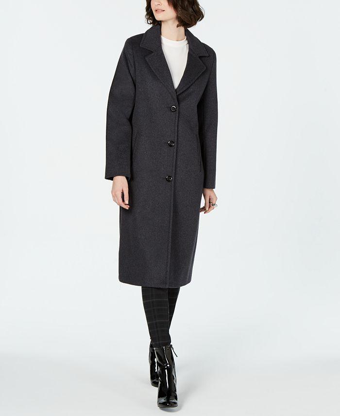 Jones New York - Single-Breasted Notch-Collar Coat