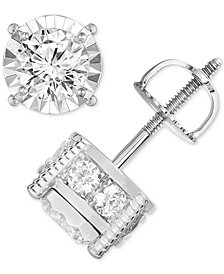TruMiracle® Diamond Stud Earrings (1-1/4 ct. t.w.) in 14k Gold, Rose Gold or White Gold