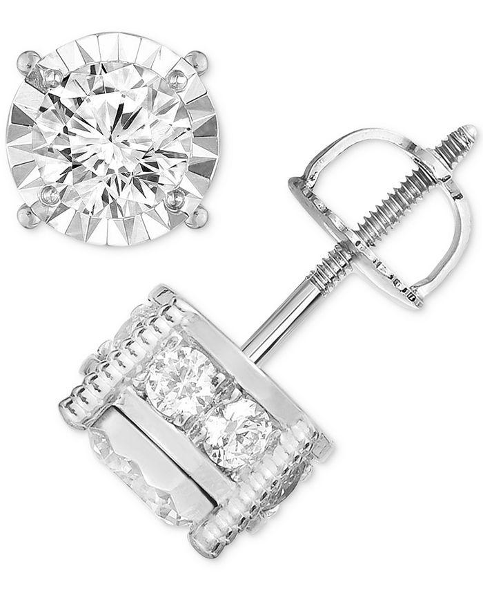 TruMiracle - ® Diamond (1-1/4 ct. t.w.) Stud Earrings