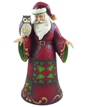 Jim Shore Collectible Figurine, Santa with Owl