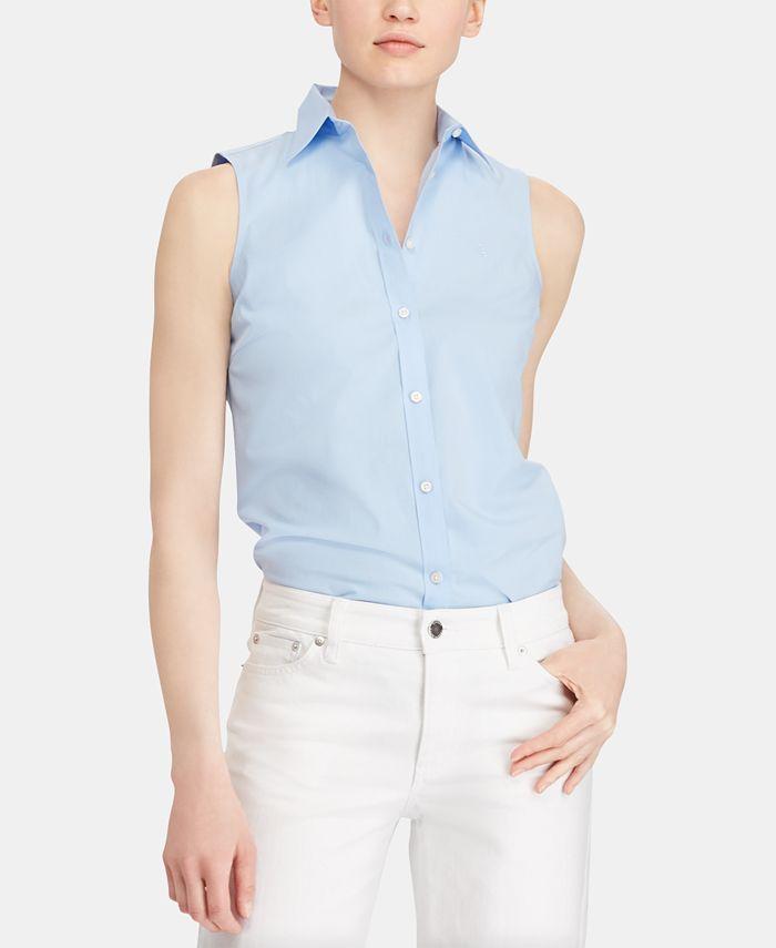Lauren Ralph Lauren - Sleeveless Stretch Shirt