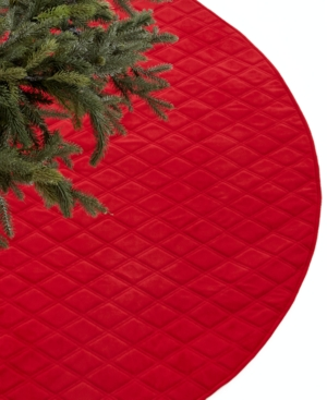 Holiday Lane Christmas Tree Skirt, Red Diamond