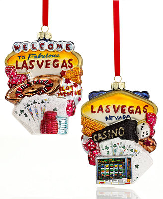 Kurt Adler Las Vegas Christmas Ornament