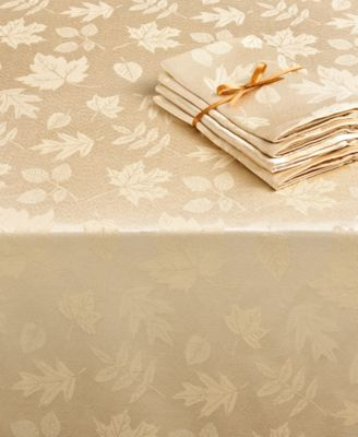"Homewear Table Linens, 70"" Dinner Party Bountiful Round Tablecloth with 7 Napkins"