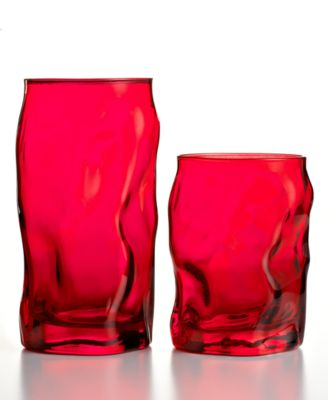 CLOSEOUT! Bormioli Rocco Set of 6 Sorgente Color Water Glasses