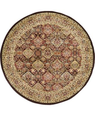 Passage Psg7 Brown 6' x 6' Round Area Rug