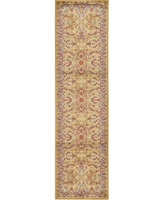"Passage Psg9 Dark Yellow 2' 7"" x 10' Runner Area Rug"