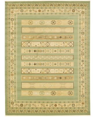 "Ojas Oja4 Light Green 12' 2"" x 16' Area Rug"