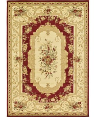 Belvoir Blv3 Red 7' x 10' Area Rug