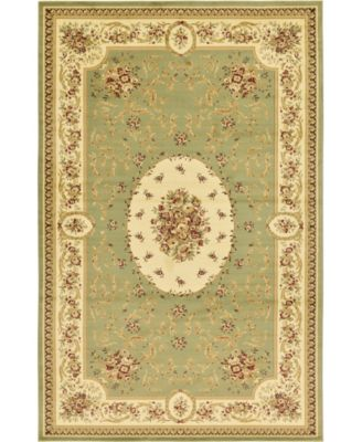"Belvoir Blv4 Green 10' 6"" x 16' 5"" Area Rug"