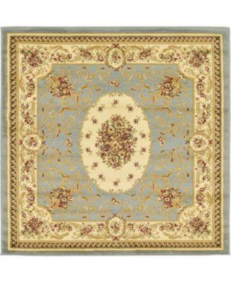 Belvoir Blv4 Light Blue 4' x 4' Square Area Rug