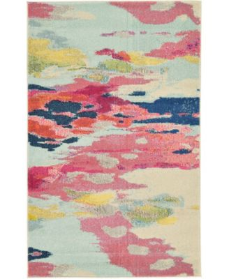 "Newwolf New4 Pink 3' 3"" x 5' 3"" Area Rug"