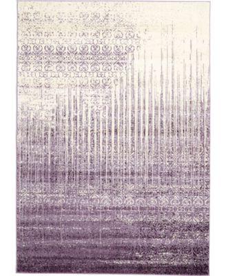 Lyon Lyo2 Purple 7' x 10' Area Rug