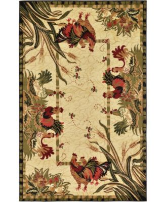 Roost Roo1 Ivory 5' x 8' Area Rug