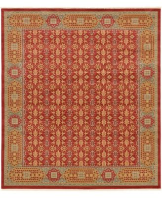 "Wilder Wld7 Red 10' x 11' 4"" Square Area Rug"