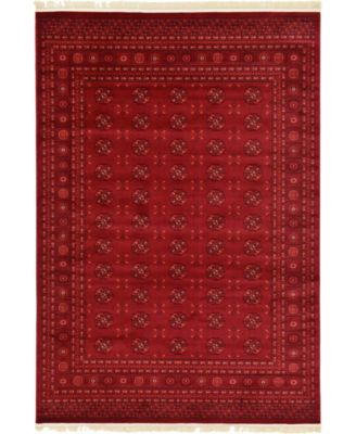 Vivaan Viv1 Red 7' x 10' Area Rug