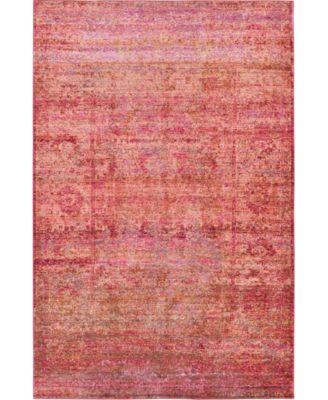 Malin Mal8 Red 5' x 8' Area Rug