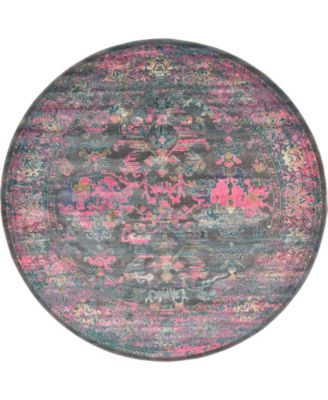 Aroa Aro1 Gray 8' x 8' Round Area Rug