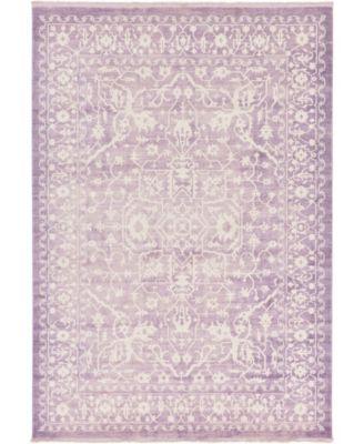 "Norston Nor1 Purple 8' x 11' 4"" Area Rug"