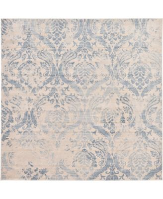 Caan Can5 Blue 8' x 8' Square Area Rug