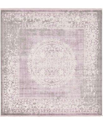 Norston Nor4 Purple 8' x 8' Square Area Rug