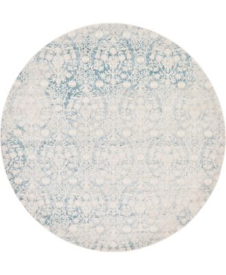 Norston Nor5 Light Blue 8' x 8' Round Area Rug