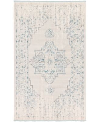 Norston Nor2 Ivory 5' x 8' Area Rug