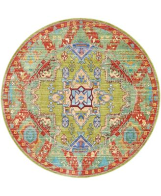 Malin Mal5 Light Green 6' x 6' Round Area Rug