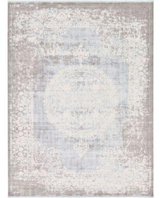 Norston Nor4 Light Blue 10' x 13' Area Rug