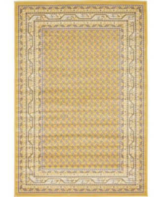 Axbridge Axb1 Yellow 4' x 6' Area Rug