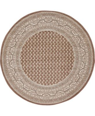 Axbridge Axb1 Brown 5' x 5' Round Area Rug