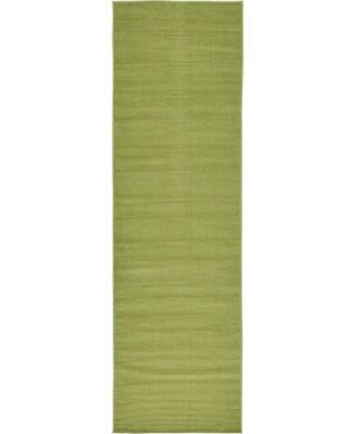 """Axbridge Axb3 Green 2' 9"""" x 9' 10"""" Runner Area Rug"""