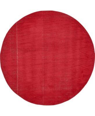 Axbridge Axb3 Red 8' x 8' Round Area Rug