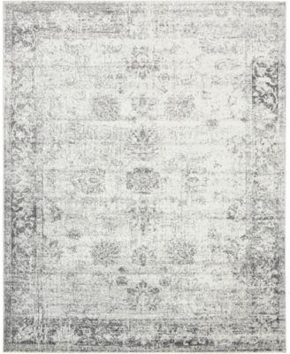 Basha Bas1 Gray 8' x 11' Area Rug