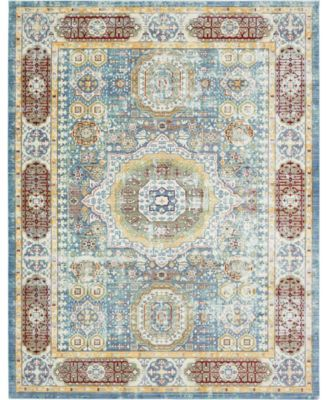 Malin Mal1 Blue 9' x 12' Area Rug