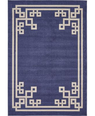 Anzu Anz3 Navy Blue 7' x 10' Area Rug
