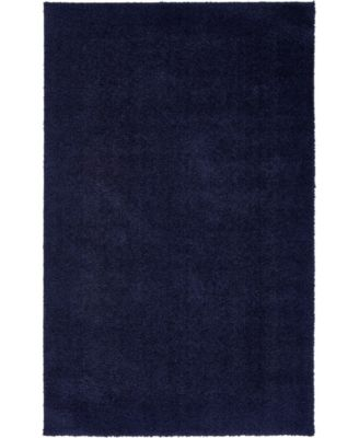 Salon Solid Shag Sss1 Midnight Blue 5' x 8' Area Rug