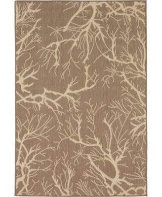 Pashio Pas6 Brown 4' x 6' Area Rug