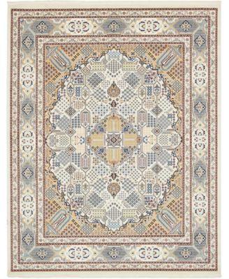 Zara Zar4 Ivory 8' x 10' Area Rug